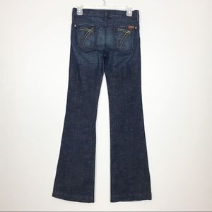 7 For All Mankind 7FAM Dojo Flare Jeans Size 25